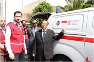 Rakyat Indonesia Menyumbangkan Mobil Ambulans Untuk Suriah