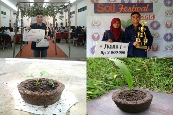 N-Pot, Pot Karya Mahasiswa IPB Dari Limbah Kelapa Sawit