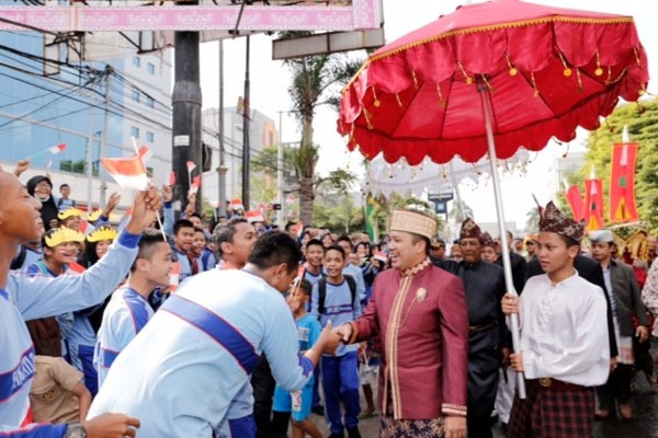 Parade Budaya 'Culture and Carnival' Lampung Dibanjiri Pengunjung