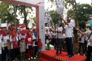 PTPN VII Dan PGN Menggelar Jalan Sehat Merayakan HUT RI