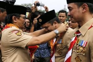 Gubernur Lampung Meraih Lencana Melati Hari Pramuka 2017 (Video)