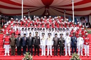 Gubernur Lampung Ridho Ficardo Inspektur Upacara HUT Ke-72 RI
