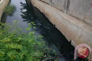 Kemarau Picu Perubahan Warna Air Saluran Bekasi
