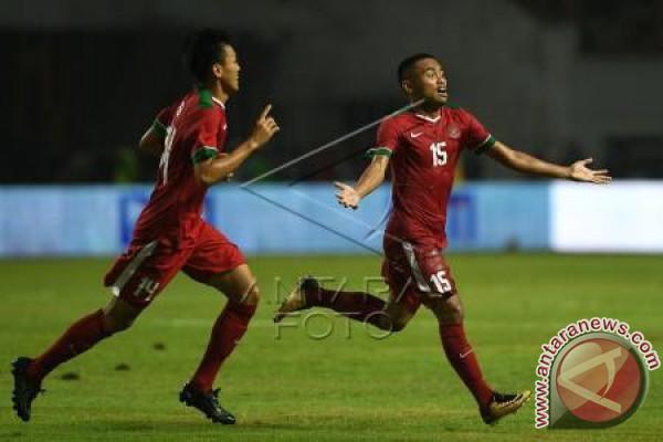 Indonesia unggul 1-0 babak pertama atas Iran
