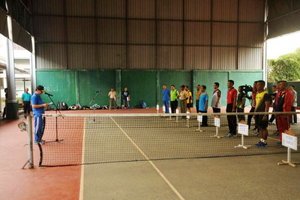 Turnamen Tenis Lapangan HUT Ke-46 KORPRI Lampung