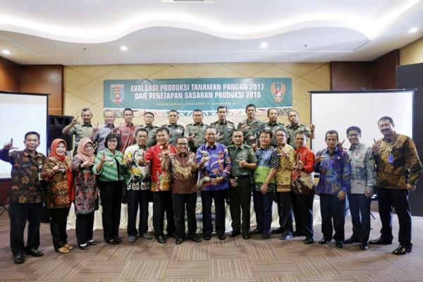 Lampung Bersinergi Mengejar Target Produksi Padi Jagung Kedelai