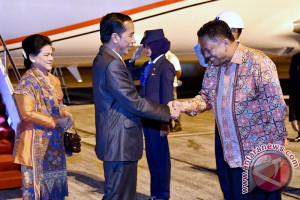 President Jokowi Arrives In Manado For Work Visit