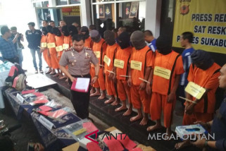 12 pengedar narkoba Sukabumi ditangkap