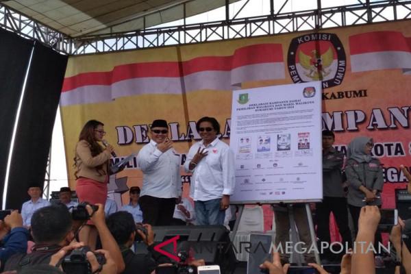 Pasangan calon kepala daerah deklarasi kampanye damai