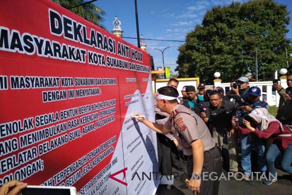 Masyarakat Kota Sukabumi gelar deklarasi anti
