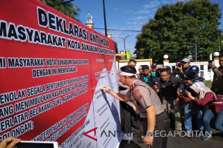 Masyarakat Kota Sukabumi gelar deklarasi anti ''hoax''