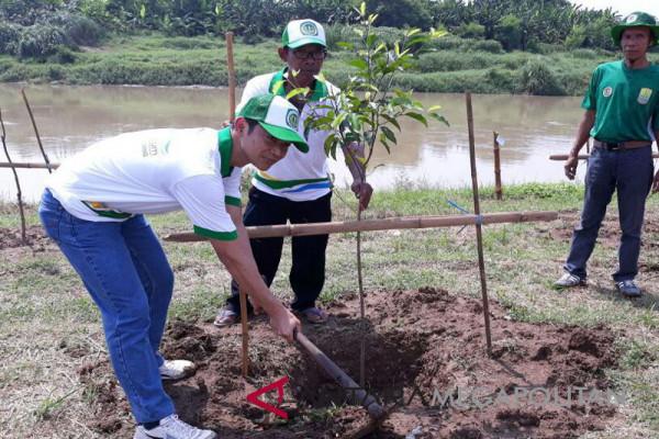 Perusahaan-Dinas Karawang hijaukan bantaran Citarum