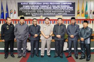 Raperda Perubahan APBD Lampung Ditandatangani Dan Sergera Diajukan Ke Kemendagri