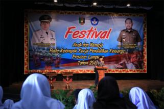 Gubernur Lampung Ridho Ficardo Membuka Festival Anak dan Remaja 2018