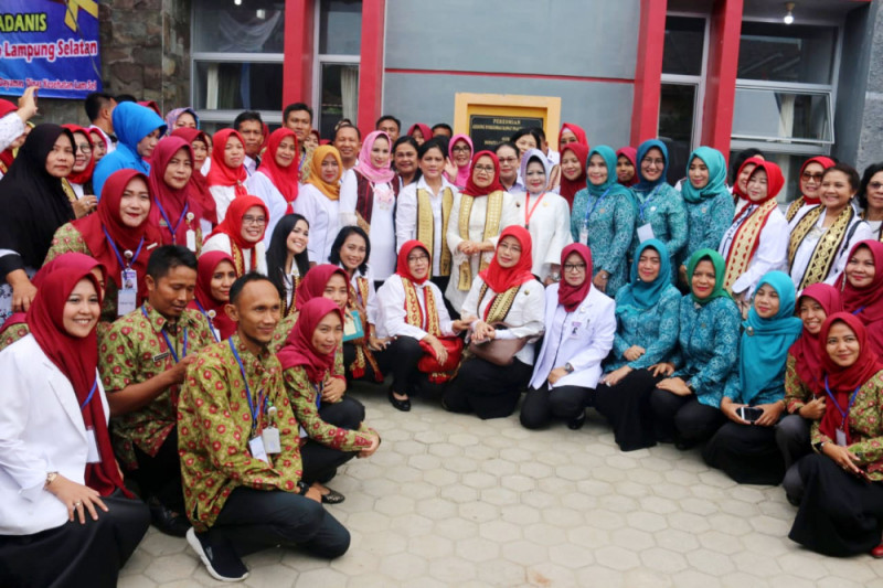 Ibu Negara Tinjau Keberhasilan Lampung Laksanakan IVA Test dan Sadanis