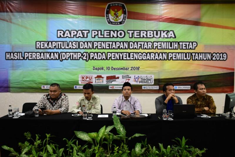 KPU Depok tetapkan DPTHP-2 Pemilu 1,3 juta