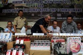 Polresta Banda Aceh sita rokok tanpa cukai
