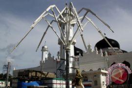 Pemasangan Payung Elektrik Masjid Baiturrahman