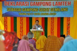 Wali Kota deklarasikan gampong sehat gemilang