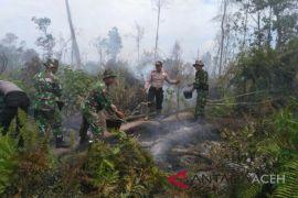 Dandim Aceh Barat pimpin pemadaman kebakaran gambut