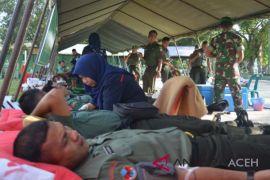 Kodim Aceh Utara donor darah jelang HUT TNI