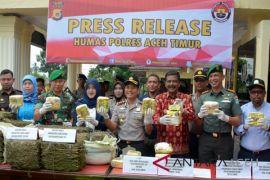 19 Kg sabu asal Cina disita polisi Aceh Timur