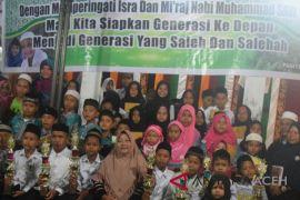 Puluhan anak TPA peringati Isra' Mi'raj