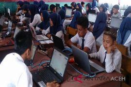 Seluruh SMP/MTS Aceh Besar laksanakan UNBK