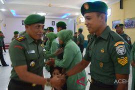 12 prajurit Kodim Aceh Utara naik pangkat