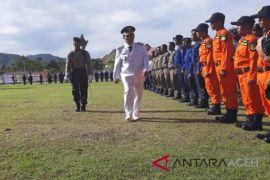 Bupati Abdya pimpin upacara HUt Bhayangkara
