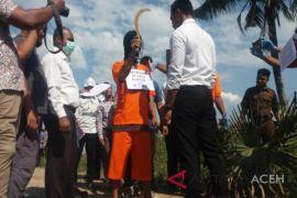 Pembacokan kades di Aceh direkonstruksi