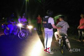 Cipta kondisi tenang, Polres Lhokseumawe bubarkan balapan liar