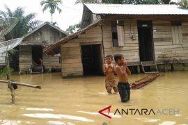 Rumah warga Aceh Barat ambruk diterjang banjir