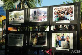 Pameran foto korban konflik Peringatan HAM Internasional