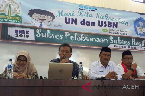 Disdik Aceh serahkan hasil UN SMP