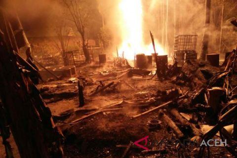 Pengeboran minyak terbakar, delapan orang meninggal dunia
