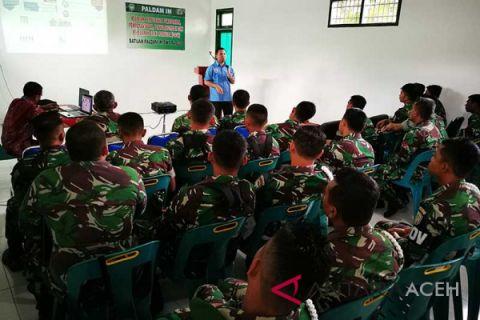 BNNP Aceh sosialisasi P4GN ke prajurit TNI
