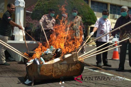Polresta Banda Aceh musnahkan dua kilogram sabu
