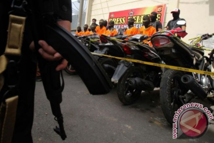 Polda Aceh amankan 109 kendaraan bermotor curian