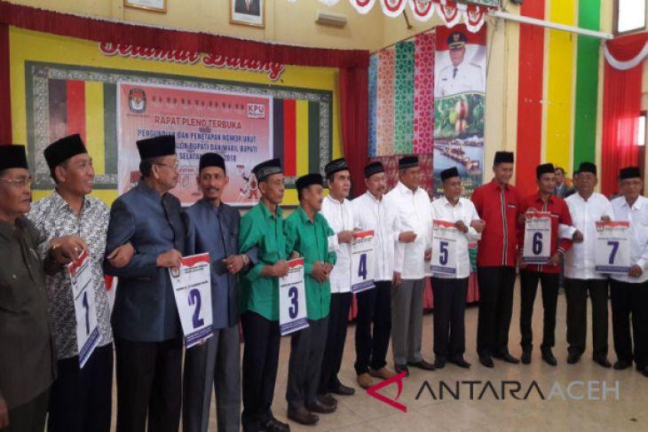 KIP Aceh Selatan tentukan nomor urut paslon