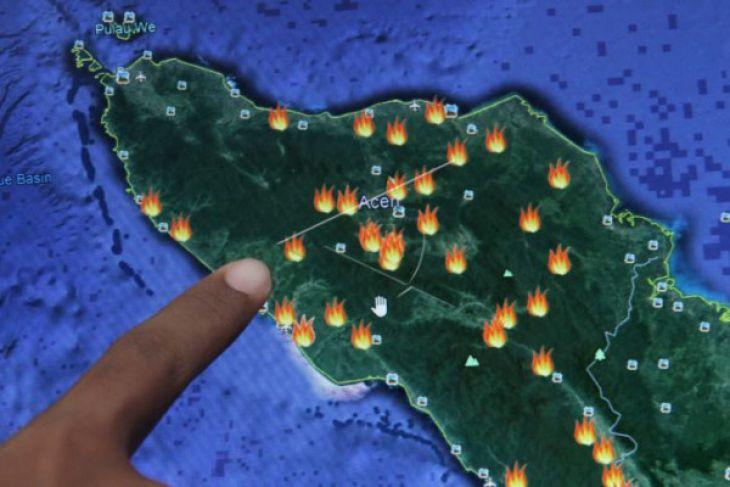 Sepuluh titik panas di Aceh pekan ini