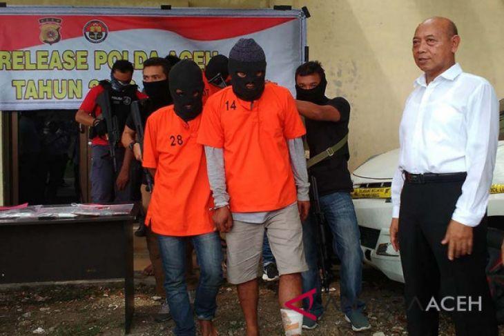 Polda Aceh tangkap empat tersangka penculikan