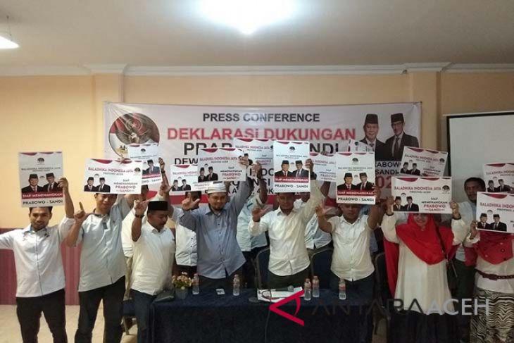 Baladhika Aceh bergerilya memenangkan Prabowo-Sandi