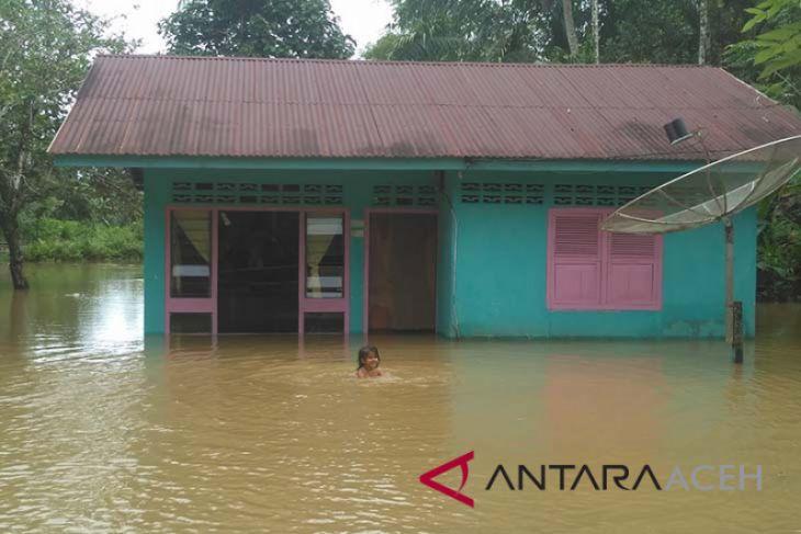 Pemukiman warga Nagan Raya terkurung banjir