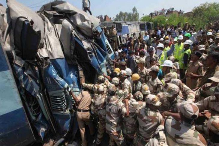 Kecelakaan KA di India, 61 penumpang tewas