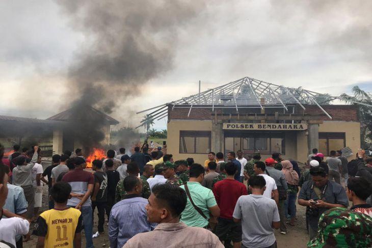 Polisi tetapkan sembilan tersangka pembakaran kantor Polsek