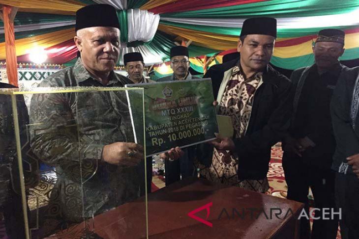 Bebesen juara umum MTQ Aceh Tengah