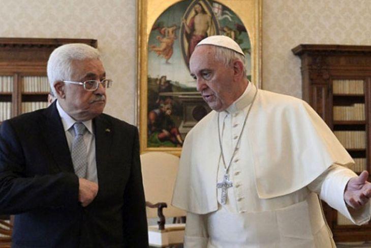 Presiden Palestina bahas masalah Timur Tengah dengan Paus di Vatikan