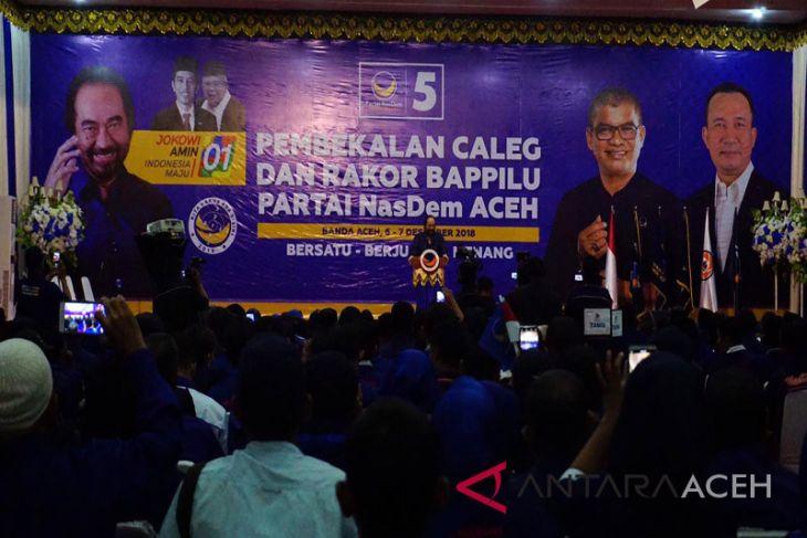 Surya Paloh ajak caleg berjuang wujudkan Aceh hebat