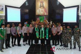 GP Ansor Malra amankan ibadah Minggu